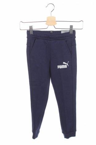 Gyerek sport nadrág PUMA, Méret 5-6y / 116-122 cm, Szín Kék, 97% pamut, 3% elasztán, Ár 6490 Ft