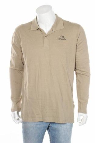 Мъжка блуза Kappa, Размер L, Цвят Бежов, Памук, Цена 14,10лв.