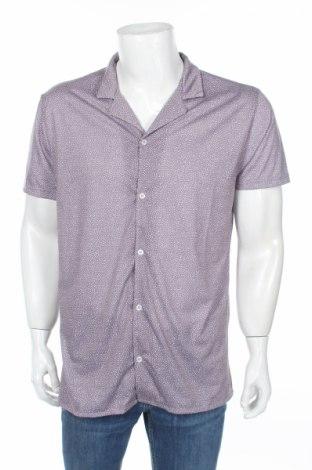 Мъжка риза Boohoo, Размер L, Цвят Сив, Полиестер, Цена 25,20лв.