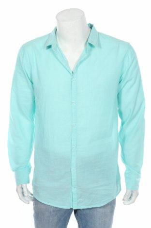 Мъжка риза Pull&Bear, Размер XL, Цвят Зелен, 100% памук, Цена 13,60лв.