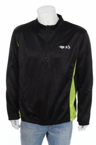 Мъжка спортна блуза Double Speed, Размер XL, Цвят Черен, Полиестер, Цена 15,05лв.