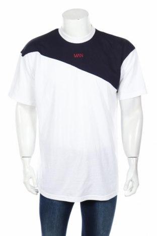 Мъжка тениска Boohoo, Размер S, Цвят Бял, 52% памук, 48% полиестер, Цена 16,80лв.
