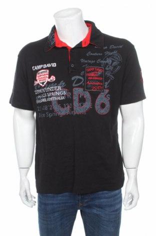 Tricou de bărbați Camp David, Mărime XL, Culoare Negru, Bumbac, Preț 84,56 Lei