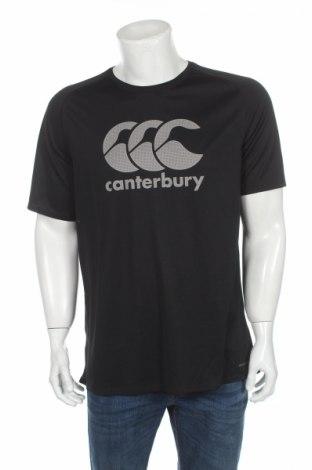 Tricou de bărbați Canterbury, Mărime XL, Culoare Negru, Poliester, Preț 41,05 Lei