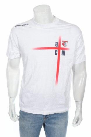 Мъжка тениска Diadora, Размер L, Цвят Бял, Памук, Цена 13,65лв.