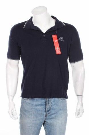 Мъжка тениска Kappa, Размер S, Цвят Син, 100% памук, Цена 13,60лв.