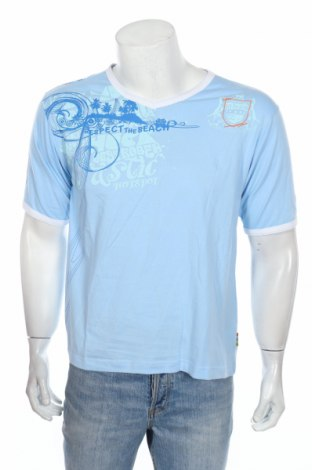 Мъжка тениска Masita, Размер S, Цвят Син, Памук, Цена 21,08лв.