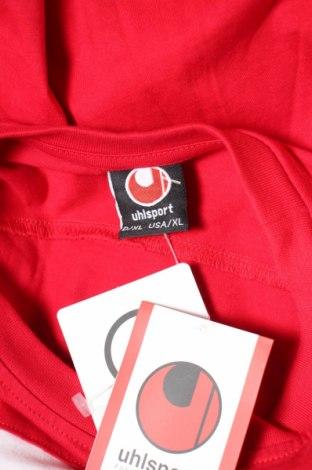 Мъжка тениска Uhlsport, Размер XL, Цвят Червен, 100% памук, Цена 15,20лв.