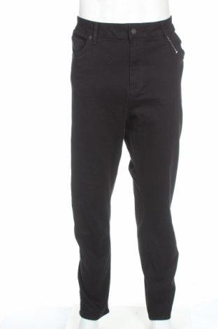 Męskie jeansy River Island, Rozmiar XXL, Kolor Czarny, 98% bawełna, 2% elastyna, Cena 40,63zł