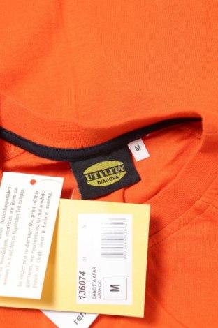 Мъжки потник Diadora, Размер M, Цвят Оранжев, Памук, Цена 9,50лв.