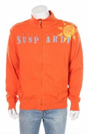 Мъжко спортно горнище Kiosk, Размер L, Цвят Оранжев, Памук, Цена 16,80лв.
