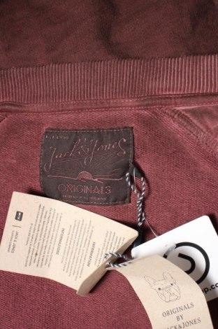 Мъжко спортно горнище Originals By Jack & Jones, Размер S, Цвят Червен, Памук, Цена 20,65лв.