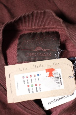 Мъжко спортно горнище Originals By Jack & Jones, Размер XL, Цвят Червен, Памук, Цена 20,65лв.