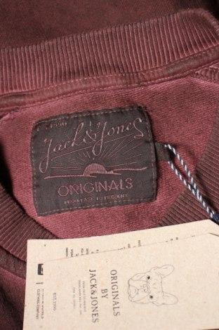 Мъжко спортно горнище Originals By Jack & Jones, Размер M, Цвят Червен, Памук, Цена 20,65лв.