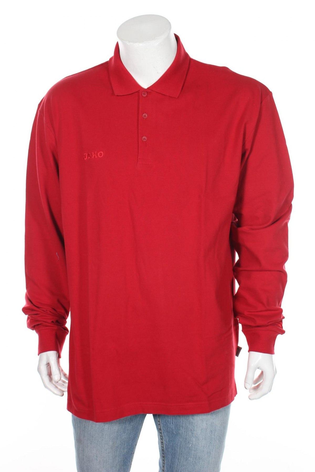 Мъжка блуза Jako, Размер XL, Цвят Червен, 95% памук, 5% еластан, Цена 14,70лв.