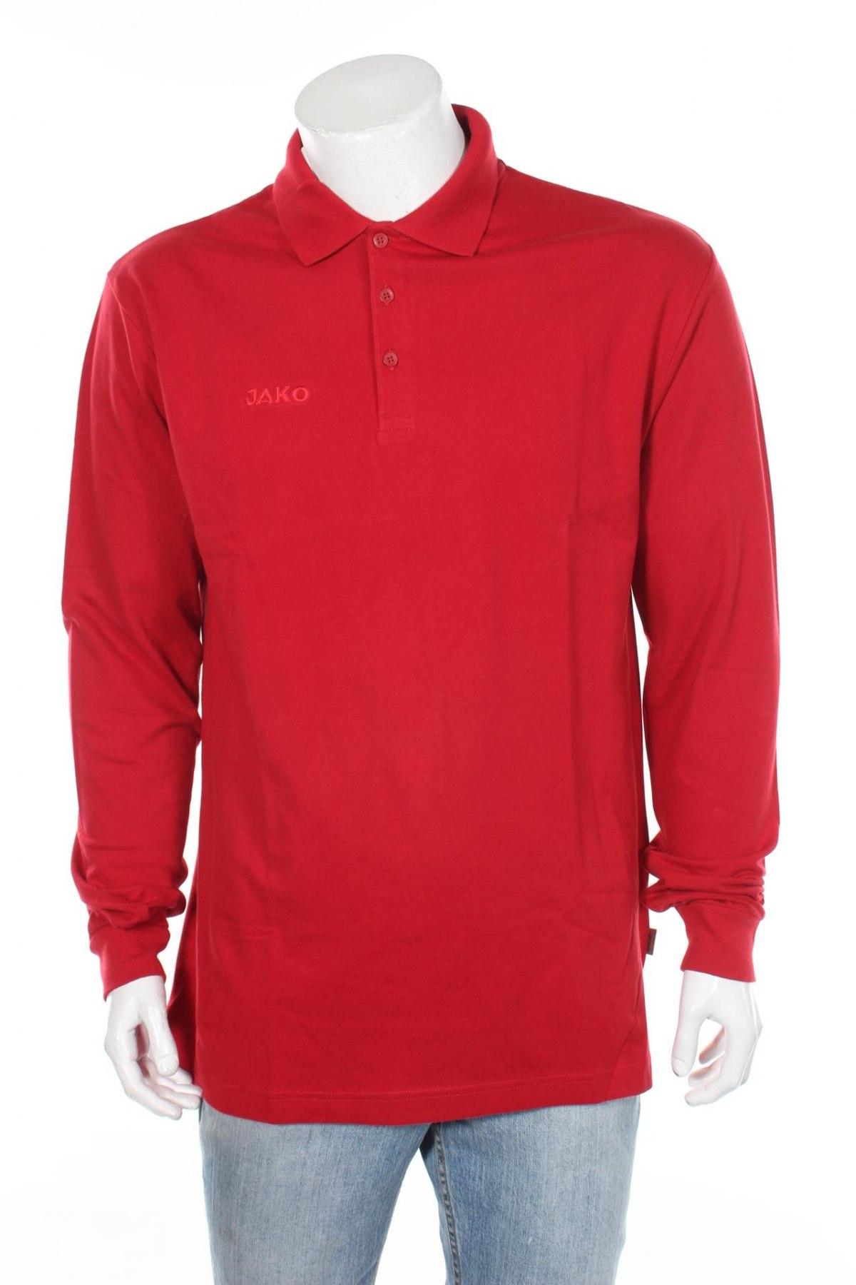 Мъжка блуза Jako, Размер L, Цвят Червен, 95% памук, 5% еластан, Цена 14,70лв.