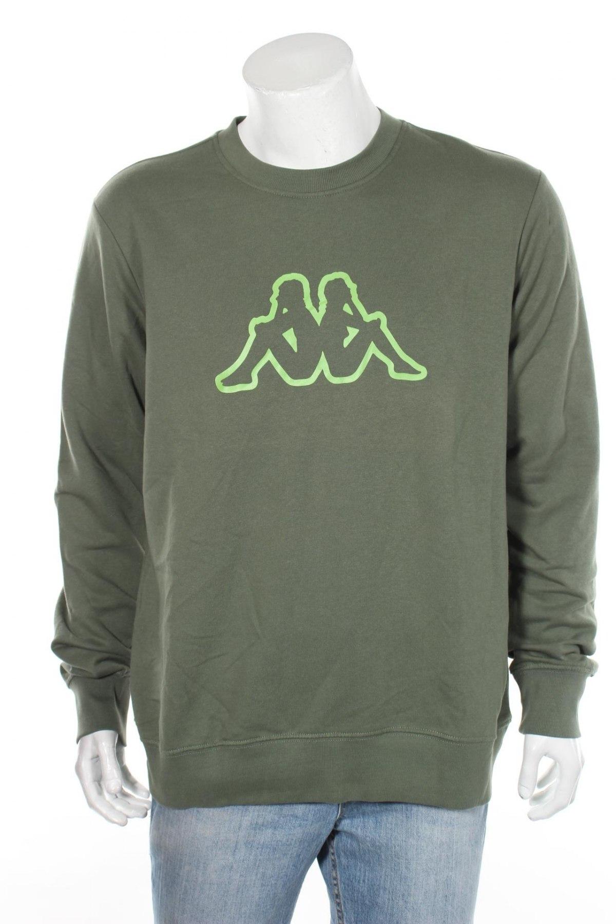 Мъжка блуза Kappa, Размер XL, Цвят Зелен, 80% памук, 20% полиестер, Цена 19,60лв.