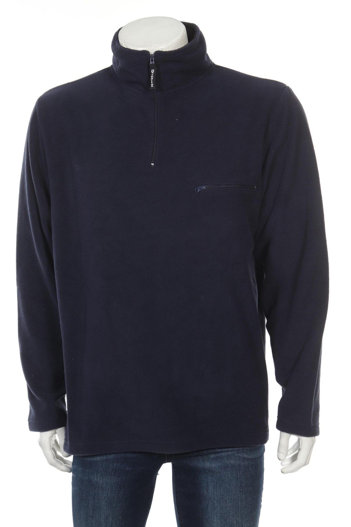 Мъжка поларена блуза, Размер XL, Цвят Син, Полиестер, Цена 17,55лв.