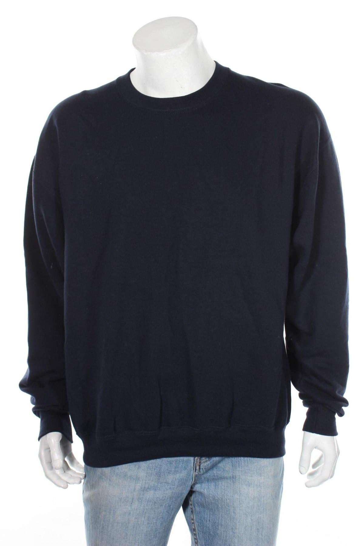 Мъжка спортна блуза Russell, Размер XXL, Цвят Син, 80% памук, 20% еластан, Цена 16,10лв.