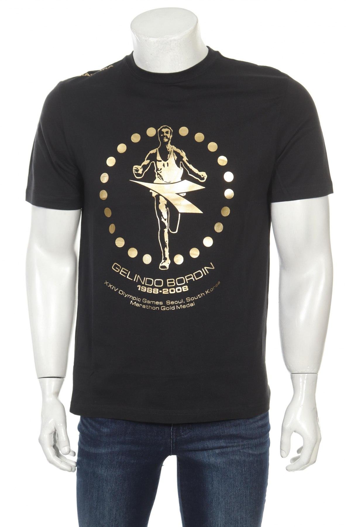Мъжка тениска Diadora, Размер M, Цвят Черен, Памук, Цена 12,90лв.