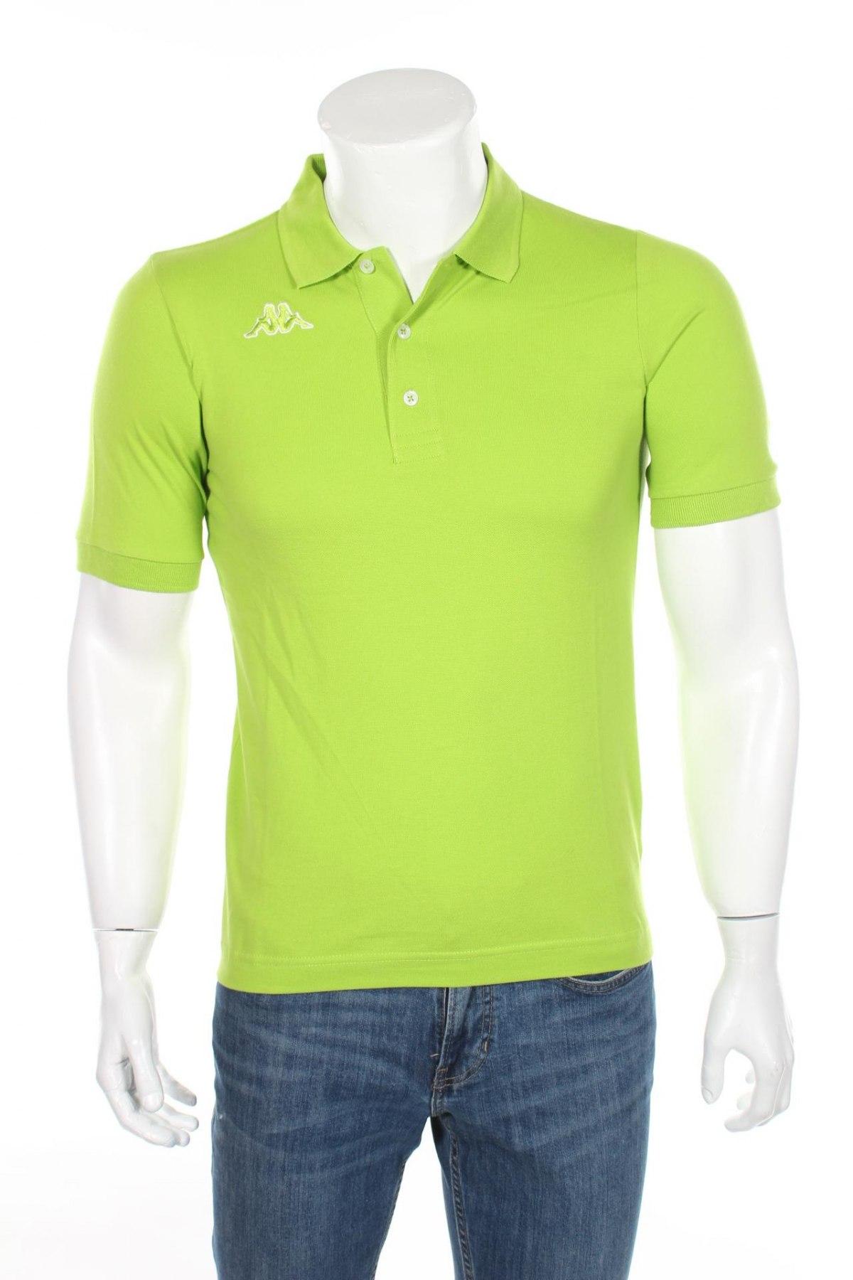 Мъжка тениска Kappa, Размер XS, Цвят Зелен, Памук, Цена 13,65лв.