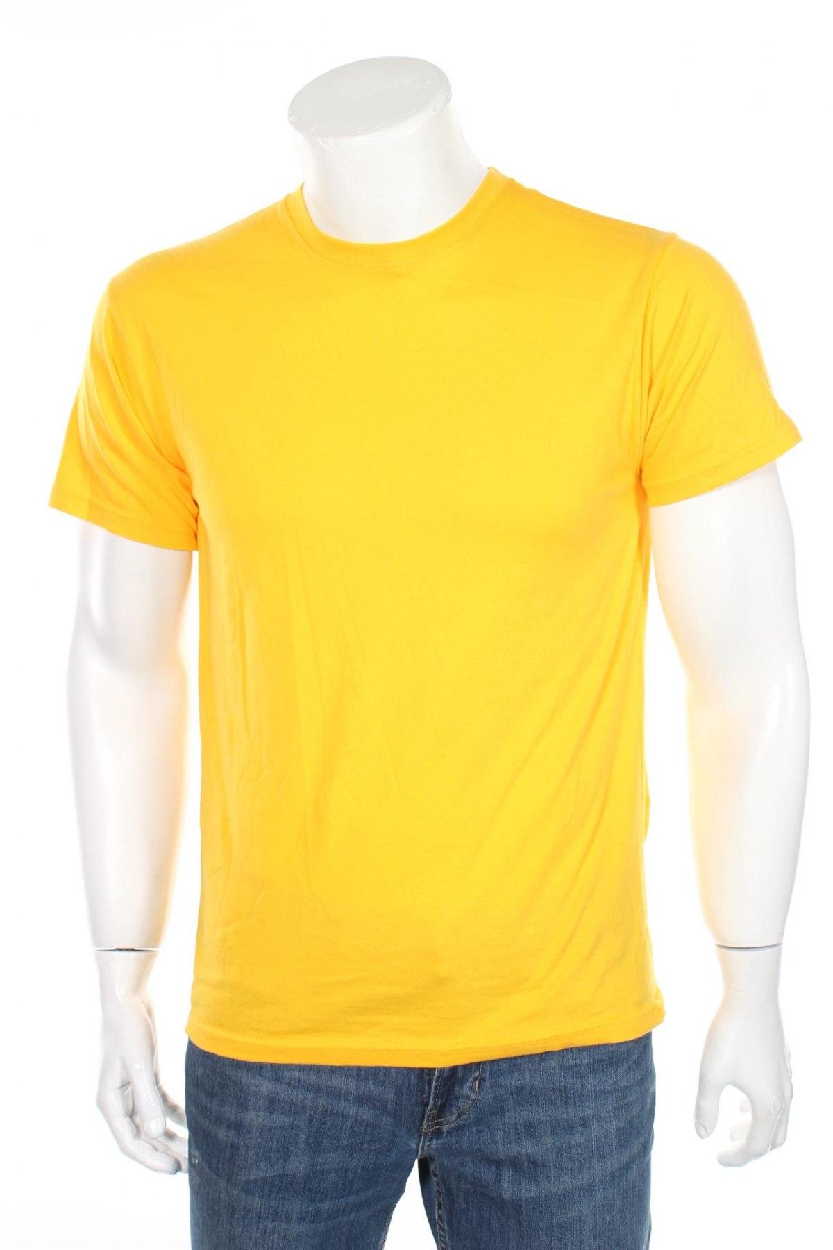Мъжка тениска Russell, Размер S, Цвят Оранжев, Памук, Цена 12,60лв.