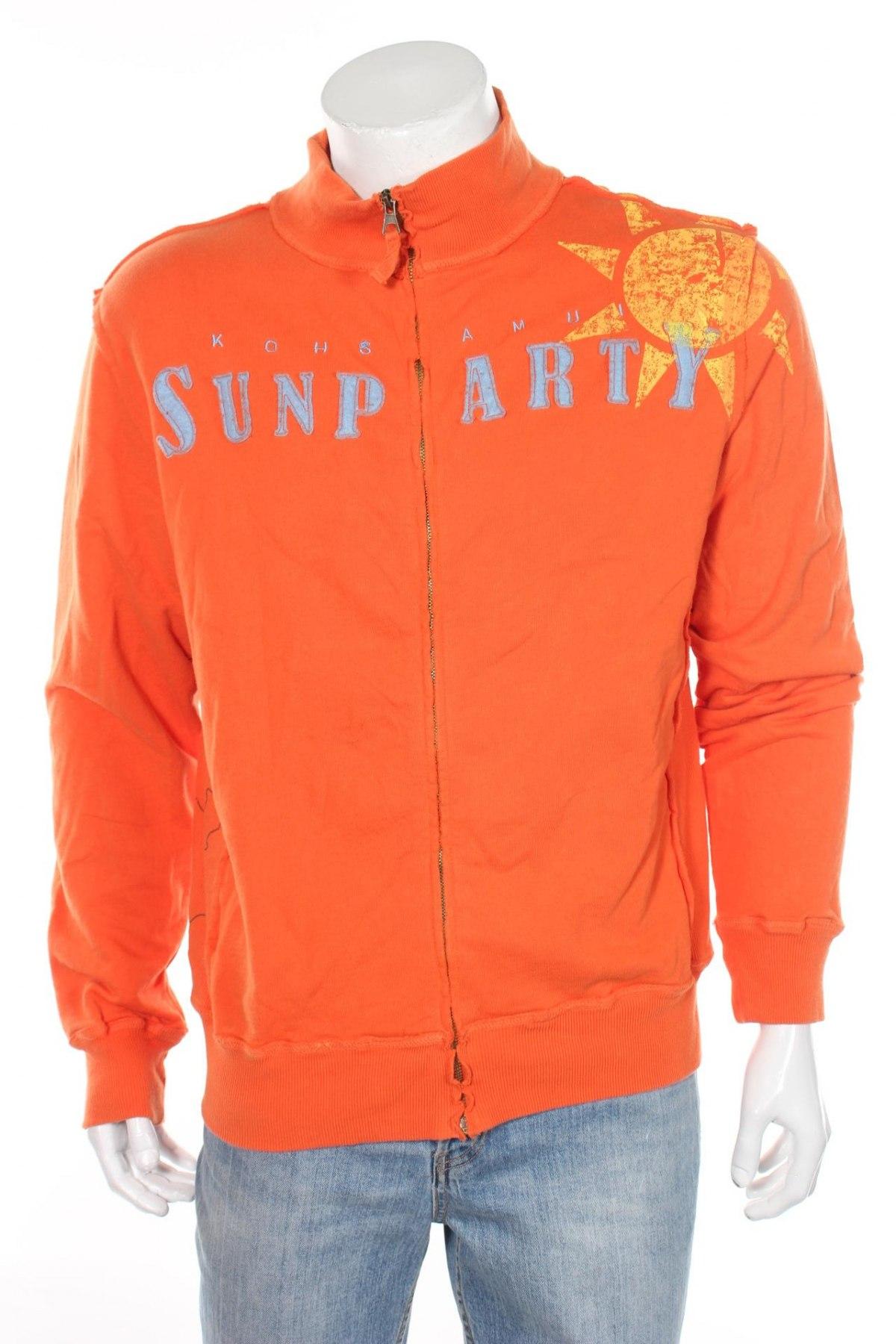 Мъжко спортно горнище Kiosk, Размер M, Цвят Оранжев, Памук, Цена 16,80лв.