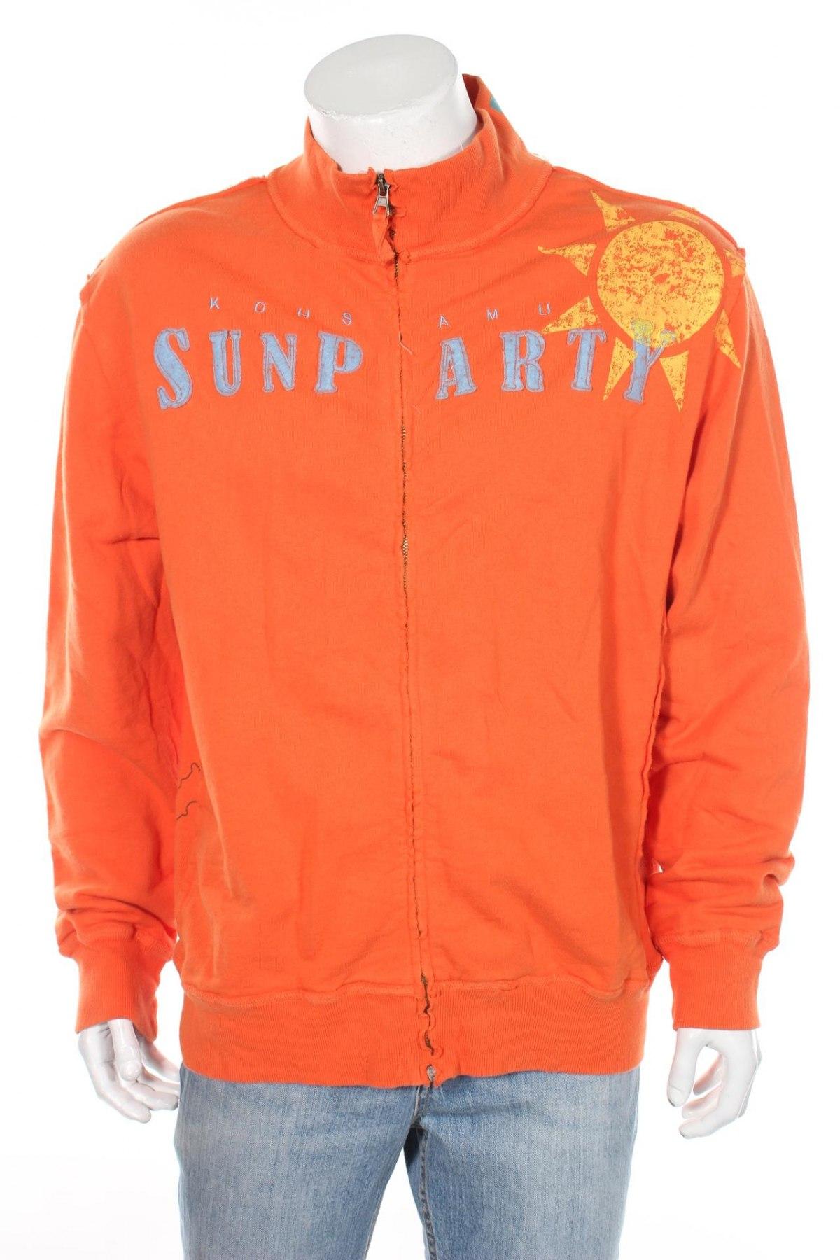 Мъжко спортно горнище Kiosk, Размер XL, Цвят Оранжев, Памук, Цена 16,80лв.