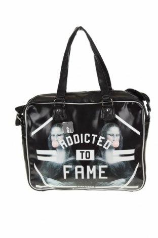 Τσάντα Cropp, Χρώμα Μαύρο, Δερματίνη, κλωστοϋφαντουργικά προϊόντα, Τιμή 19,56€