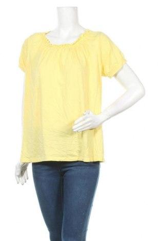 Дамска блуза, Размер XL, Цвят Жълт, 60% памук, 40% модал, Цена 15,12лв.