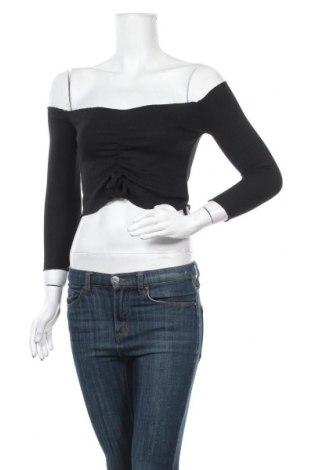 Дамска блуза, Размер S, Цвят Черен, 60% памук, 35% полиестер, 5% еластан, Цена 11,76лв.