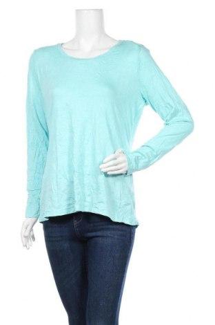 Γυναικεία μπλούζα A.N.A., Μέγεθος L, Χρώμα Μπλέ, 57% βαμβάκι, 38% μοντάλ, 5% ελαστάνη, Τιμή 7,73€