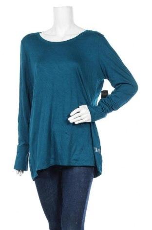 Γυναικεία μπλούζα A.N.A., Μέγεθος XL, Χρώμα Μπλέ, 57% βαμβάκι, 38% μοντάλ, 5% ελαστάνη, Τιμή 5,91€