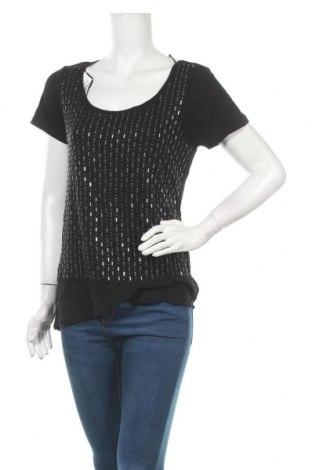 Γυναικεία μπλούζα A.N.A., Μέγεθος L, Χρώμα Μαύρο, 95% βισκόζη, 5% ελαστάνη, Τιμή 9,87€