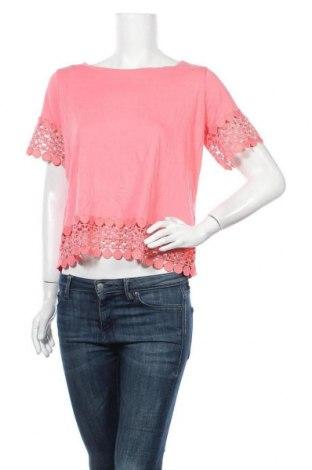 Γυναικεία μπλούζα A.N.A., Μέγεθος L, Χρώμα Ρόζ , 60% βαμβάκι, 40% μοντάλ, Τιμή 10,49€