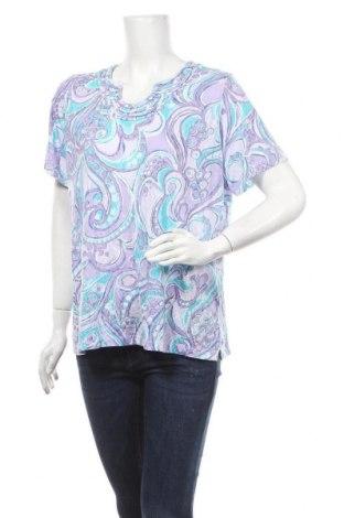 Дамска блуза Alfred Dunner, Размер L, Цвят Многоцветен, 65% полиестер, 35% вискоза, Цена 10,71лв.