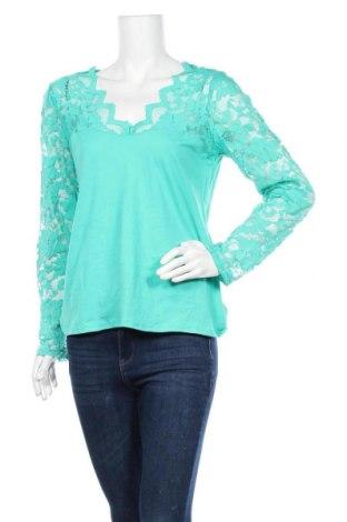 Γυναικεία μπλούζα Ambiance Apparel, Μέγεθος L, Χρώμα Πράσινο, 95% βαμβάκι, 5% ελαστάνη, Τιμή 5,20€
