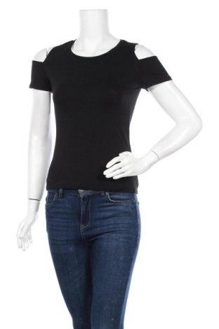 Γυναικεία μπλούζα Amisu, Μέγεθος S, Χρώμα Μαύρο, 95% βαμβάκι, 5% ελαστάνη, Τιμή 8,64€