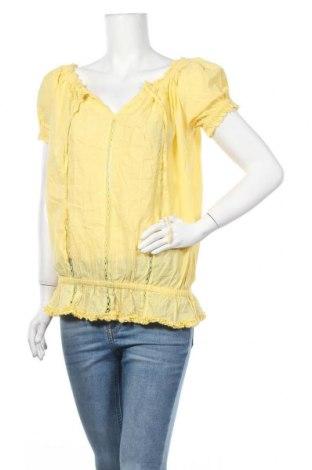 Γυναικεία μπλούζα Amisu, Μέγεθος M, Χρώμα Κίτρινο, Βαμβάκι, Τιμή 10,49€