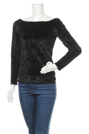 Γυναικεία μπλούζα Amisu, Μέγεθος M, Χρώμα Μαύρο, 90% πολυεστέρας, 10% ελαστάνη, Τιμή 11,04€