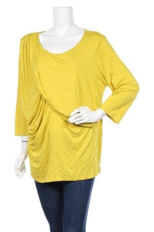 Дамска блуза Anne Klein, Размер XXL, Цвят Жълт, 94% вискоза, 6% еластан, Цена 12,50лв.