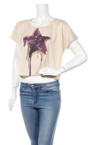 Дамска блуза Bongo, Размер L, Цвят Бежов, 63% полиестер, 22% вискоза, 15% метални нишки, Цена 7,14лв.