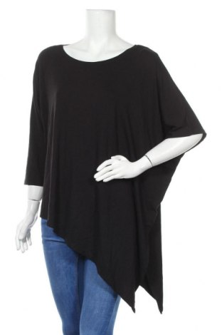 Γυναικεία μπλούζα Boysen's, Μέγεθος L, Χρώμα Μαύρο, 95% βισκόζη, 5% ελαστάνη, Τιμή 11,59€