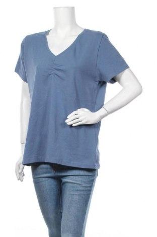 Γυναικεία μπλούζα Boysen's, Μέγεθος XXL, Χρώμα Μπλέ, 95% βαμβάκι, 5% ελαστάνη, Τιμή 8,77€