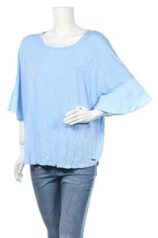 Γυναικεία μπλούζα Calvin Klein, Μέγεθος XL, Χρώμα Μπλέ, 95% βισκόζη, 5% ελαστάνη, Τιμή 20,13€
