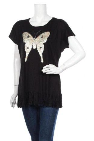 Дамска блуза Canda, Размер M, Цвят Черен, 95% вискоза, 5% еластан, Цена 17,85лв.