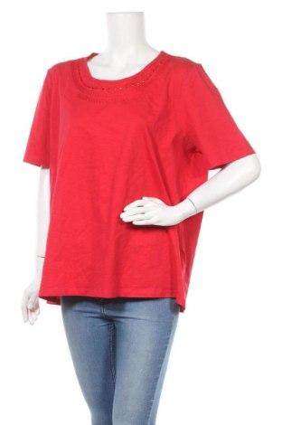 Дамска блуза Canda, Размер XL, Цвят Червен, Памук, Цена 17,85лв.