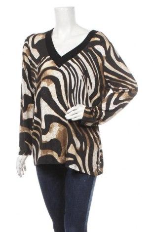 Дамска блуза Canda, Размер L, Цвят Многоцветен, 94% вискоза, 6% еластан, Цена 17,85лв.