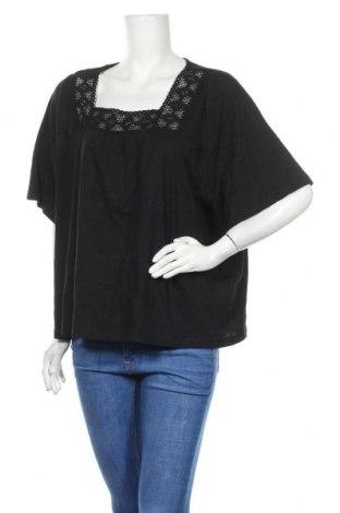 Дамска блуза Chicoree, Размер M, Цвят Черен, Памук, Цена 16,96лв.