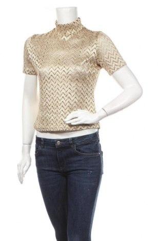 Γυναικεία μπλούζα Colloseum, Μέγεθος L, Χρώμα Χρυσαφί, 80% πολυεστέρας, 15% πολυαμίδη, 5% ελαστάνη, Τιμή 10,39€